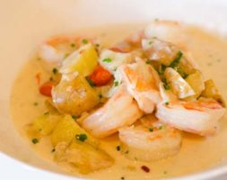 Shrimp in White Sauce