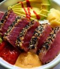 Seared Crusted Maguro Don