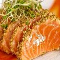 Seared Crusted Salmon Sashimi