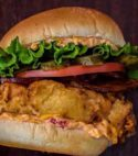 Fried Chicken Bacon Cheese Burger