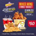 Mixed Wing Family Bucket