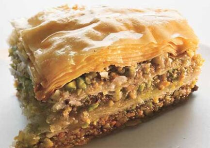 walnut and pistachio baklava 646